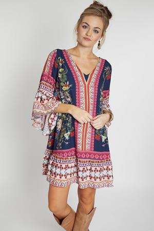 Fancy in Floral Ruffle Dress