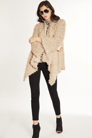 Shaggy Jacket, Taupe