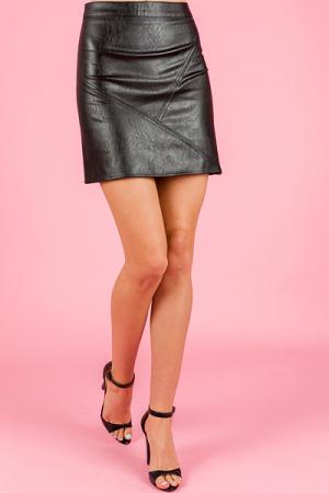 Lana Leather Skirt
