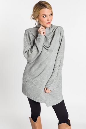 Snap Shoulder Sweater