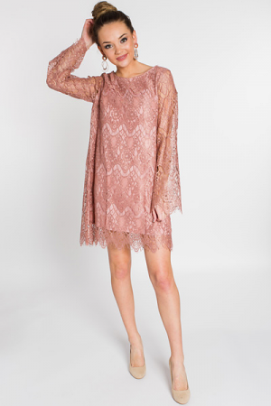 All Eyes on You Lace Dress