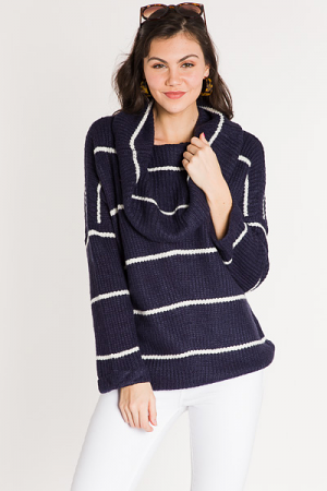 Striped on Stripes Sweater, Nav