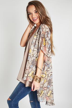 Shimmer Snake Kimono