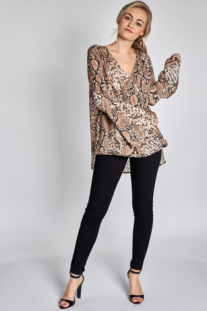 Wild For You Wrap Top