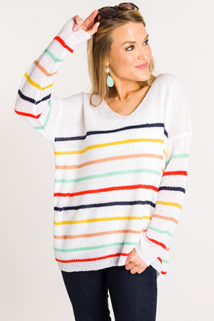 Shake It Off Striped Sweater