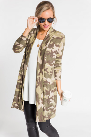 Relaxed Camo Cardi