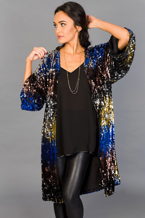 Ombre Sequin Duster