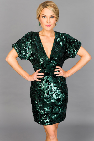 THE Sequin Dress, Green