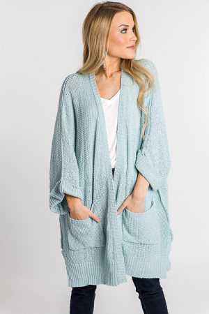 Half Sleeve Open Cardi, Sea