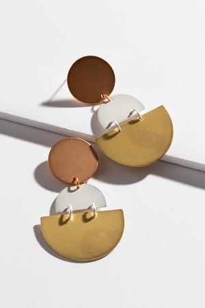 Geometric Drop Earrings, Multi