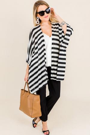 Camina Cardigan, Black Stripes