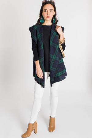Murphy Blanket Vest, Green
