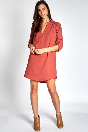Instant Classic Dress, Rust