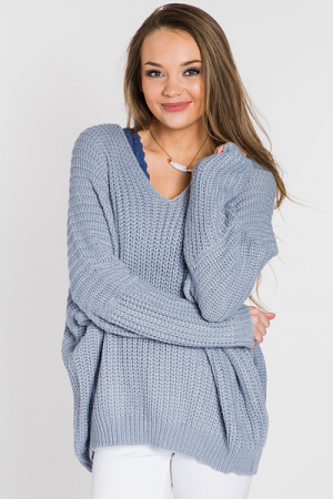 Floating on Air Sweater, Blue