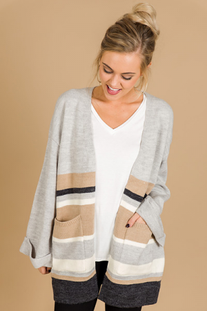 Smitten in Stripes Cardi