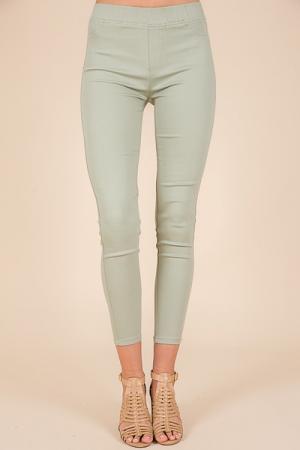 Mint Pull On Pants