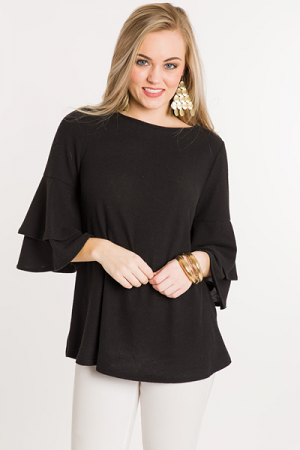 Double Tier Top, Black