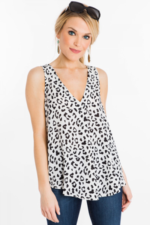 Swing Around Tank, Animal Print
