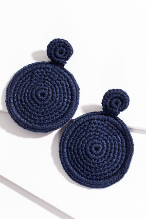 Round Weave Ear, Navy